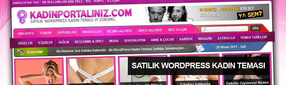 WordPress Kadın Portalı v1 Satılığa Sunuyorum..