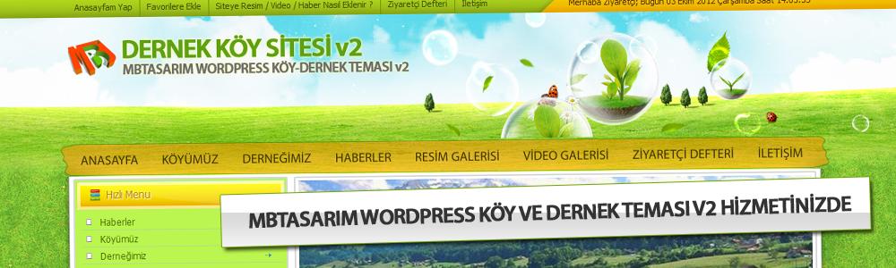 MB Tasarım WordPress Köy ve Dernekler İçin Hazırlanmış WordPress Teması v2 Sürümü Hizmetinizde..!!