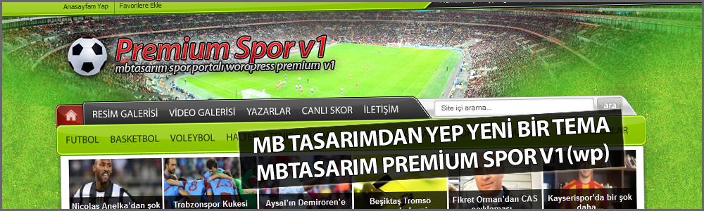 MB Tasarım'dan Uzun Bir Aradan Sonra Yep Yeni Bir WP [Spor] Teması, MB Tasarım Premium Spor v1