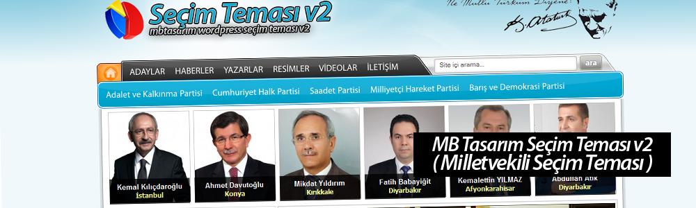 MB Tasarım Seçim Teması v2  ( Milletvekili Seçim Teması )